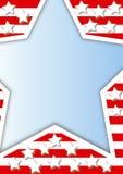 Quadro com estrelas Imagens de Stock