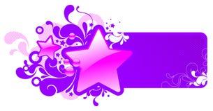 Quadro com estrelas lustrosas Imagem de Stock Royalty Free