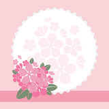 Quadro com flores Fotos de Stock