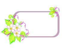 Quadro com flores abstratas Fotografia de Stock