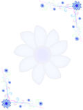 Quadro com flores azuis Imagem de Stock Royalty Free