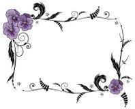 Quadro com flores da viola Fotos de Stock Royalty Free