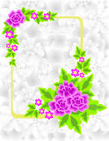 Quadro com flores e fundo abstratos Fotos de Stock Royalty Free