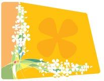 Quadro com flores e linhas Imagem de Stock Royalty Free