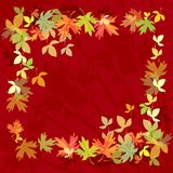 Quadro com folhas de outono Fotografia de Stock Royalty Free
