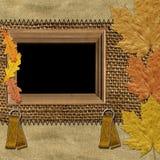 Quadro com folhas de outono Foto de Stock Royalty Free