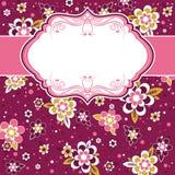 Quadro com fundo das flores Imagens de Stock Royalty Free
