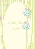 Quadro com fundo floral Imagem de Stock Royalty Free