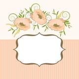 Quadro com fundo floral Imagens de Stock