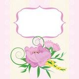 Quadro com fundo floral Foto de Stock