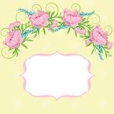 Quadro com fundo floral Imagens de Stock Royalty Free