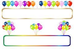 Quadro com grupos dos balões Imagens de Stock Royalty Free