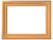 Quadro com imitação da madeira Imagens de Stock Royalty Free