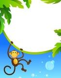 Quadro com macaco Imagem de Stock
