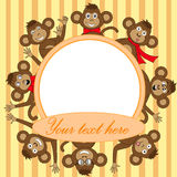Quadro com macaco EPS 10 dentro Imagem de Stock
