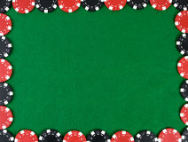 Quadro com microplaquetas de póquer Imagem de Stock Royalty Free