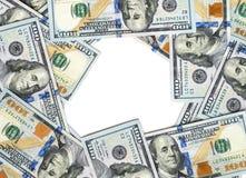 Quadro com notas de dólar Imagem de Stock