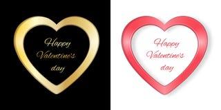 Quadro com o cartão do Valentim do coração Imagens de Stock