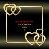 Quadro com o cartão do Valentim do coração Fotos de Stock