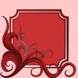 quadro com o ornamento floral abstrato Imagem de Stock Royalty Free
