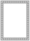 Quadro com ornament_01 ilustração royalty free