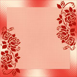 Quadro com ornamento cor-de-rosa Foto de Stock