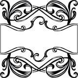 Quadro com ornamento filigree ilustração do vetor
