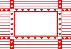 Quadro com os corações Imagem de Stock Royalty Free