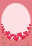 Quadro com os corações verticais Foto de Stock