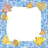 Quadro com os peixes coloridos dos desenhos animados Foto de Stock