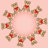 Quadro com os ursos no vetor ilustração do vetor