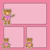 Quadro com os ursos no vetor ilustração stock