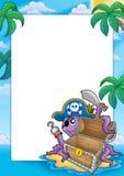 Quadro com polvo do pirata Foto de Stock