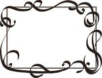 Quadro com redemoinhos decorativos Foto de Stock Royalty Free
