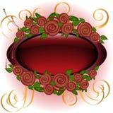 Quadro com rosas Fotografia de Stock Royalty Free
