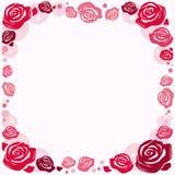 Quadro com rosas Foto de Stock