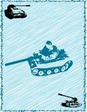 Quadro com tanques Fotografia de Stock