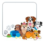 Quadro com tema 2 do cão Fotografia de Stock