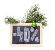 Quadro com texto 40 por cento Foto de Stock