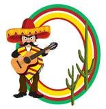 Quadro com um mexicano Imagens de Stock