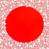 Quadro congelado decorativo no fundo monocromático vermelho ilustração do vetor