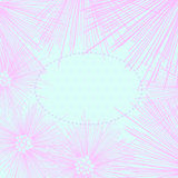 Quadro cor-de-rosa da flor isolado no fundo do às bolinhas. Imagens de Stock Royalty Free