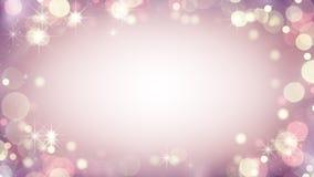 Quadro cor-de-rosa delicado de luzes do bokeh abstraia o fundo ilustração do vetor