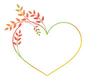 Quadro coração-dado forma bonito da flor com suficiência do inclinação Quadro da silhueta da cor ilustração royalty free