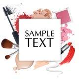 Quadro cosmético da promoção Imagens de Stock Royalty Free