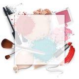 Quadro cosmético da promoção Fotografia de Stock