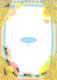 Quadro Criança Abelhas e mel Tamanho padrão Foto de Stock Royalty Free