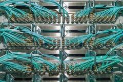 Quadro d'interconnessione ottico nei servizi del centro dati del fà di una nuvola del ¼ r Fotografie Stock Libere da Diritti