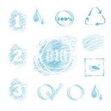 Quadro da água e grupo do contexto ilustração do vetor