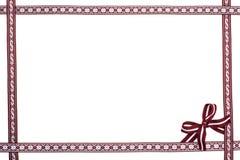 Quadro da beira de fitas letãs nacionais Fotografia de Stock Royalty Free
